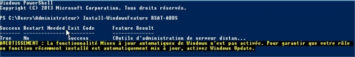 Administrateur  Windows PowerShell