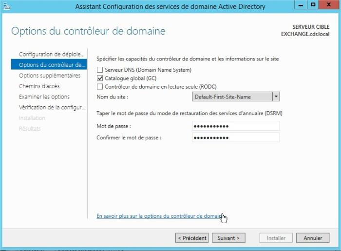 Assistant Configuration des services de domaine Active Directory6