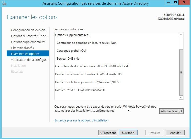 tutoriel active directory secondaire sous windows server 2012