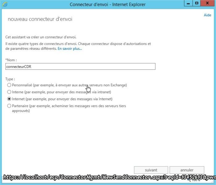 Connecteur d'envoi - Internet Explorer22