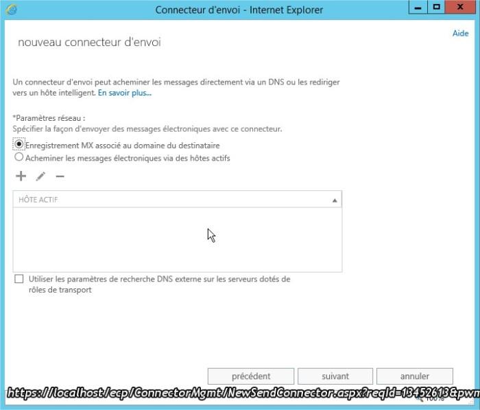 Connecteur d'envoi - Internet Explorer3