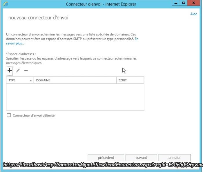 Connecteur d'envoi - Internet Explorer5