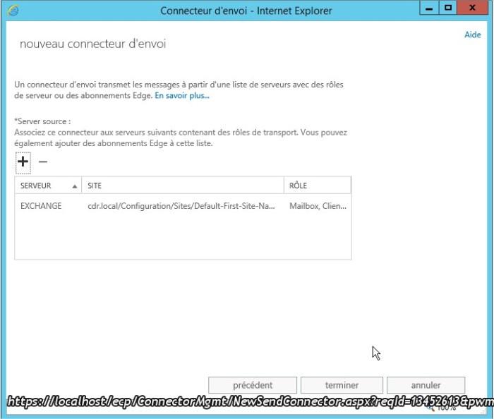 Connecteur d'envoi - Internet Explorer9