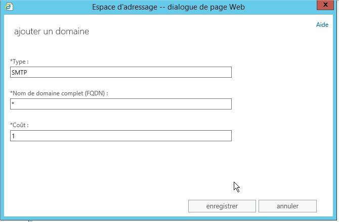 Espace d'adressage -- dialogue de page Web