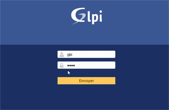 GLPI - Authentification - Mozilla Firefox