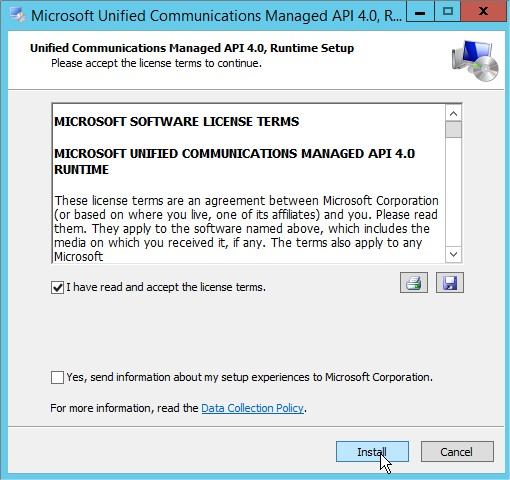 Microsoft Unified Communications Managed API 4.0, Runtime Setup2