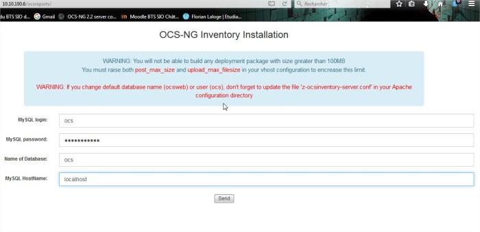 OCS Inventory - Mozilla Firefox