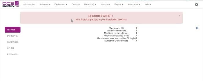 OCS Inventory - Mozilla Firefox3