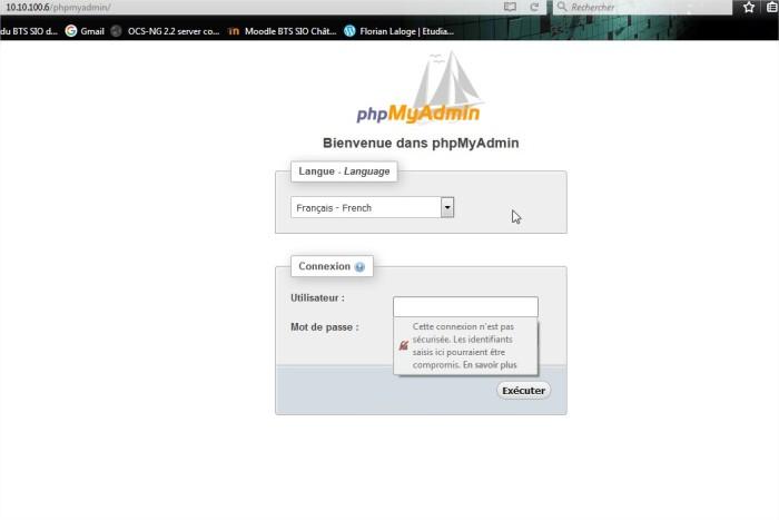phpMyAdmin - Mozilla Firefox