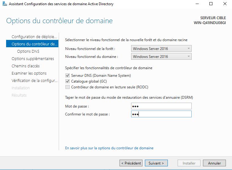 installation d u2019un active directory et d u2019un serveur dns